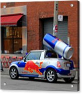 Red Bull Car Acrylic Print