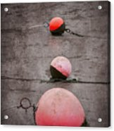 Red Buoys  Acrylic Print by Svetlana Sewell