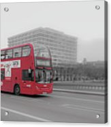 Red Buss In London Acrylic Print