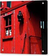 Red Caboose Acrylic Print