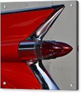 Red Cadillac Fin Acrylic Print