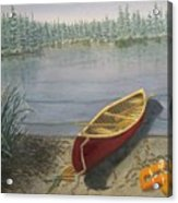 Red Canoe 3  Acrylic Print