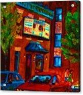 Red Car Blue Sky Acrylic Print