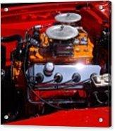 Red Car Engine  Acrylic Print