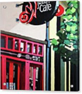 Red Cat Jazz Cafe Acrylic Print