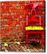Red Chair  Acrylic Print