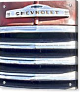 Red Chevrolet Grill Acrylic Print