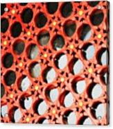 Red Chinese Window Acrylic Print