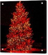 Red Christmas Tree Acrylic Print