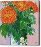 Red Chrysanthemums Acrylic Print