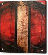 Red Circle Of Life Acrylic Print