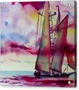 Red Cloud Sail Acrylic Print