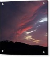 Red Clouds 2 Acrylic Print
