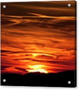 Red Clouds At Sunset Acrylic Print