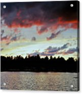 Red Clouds Acrylic Print