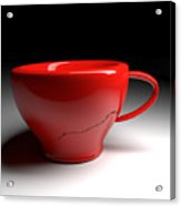 Red Coffee Cup Acrylic Print