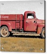 Red Coke Truck Acrylic Print