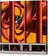 Red Columns 4 Acrylic Print