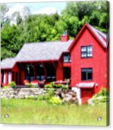 Red Cottage Acrylic Print