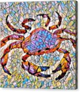 Red Crab Stained Glass Acrylic Print