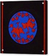 Red Cranes Acrylic Print