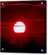 Red Cross Levee Sunset Acrylic Print