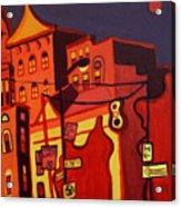 Red Cruising Baltimore Acrylic Print