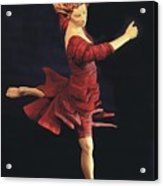 Red Dancer Front View Acrylic Print