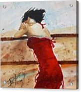 Red Dancer Acrylic Print