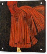 Red Dancer Acrylic Print