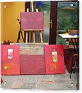 Red Day In The Studio Acrylic Print