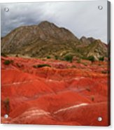 Red Desert Landscape Torotoro National Park Bolivia Acrylic Print