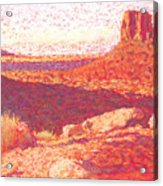Red Desert Acrylic Print