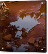 Red Desert Wash Acrylic Print