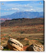 Red Desert With La Sal Mountains Acrylic Print
