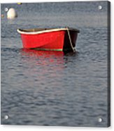 Red Dingy - Rye Harbor New Hampshire Usa Acrylic Print