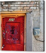 Red Door 325  Acrylic Print