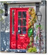 Red Door At Night -- Sailor's Delight Acrylic Print