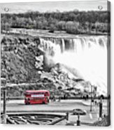 Red Double Decker Acrylic Print