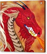 Red Dragon Acrylic Print