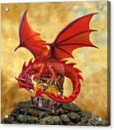 Red Dragon's Treasure Chest Acrylic Print