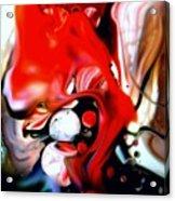 Red Drape Acrylic Print