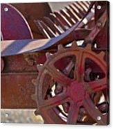Red Drive Cog Acrylic Print