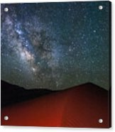 Red Dunes At Night Acrylic Print