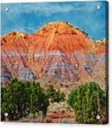 Painted Red Earth Acrylic Print