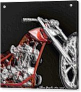 Red Embossed Custom Acrylic Print