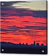 Red Farm Sunrise Acrylic Print