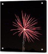 Red Fireworks Acrylic Print