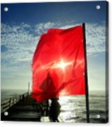 Red Flag Warning Sunrise 3 9/30 Acrylic Print