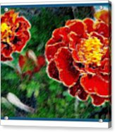 Red Flower In Autumn Acrylic Print